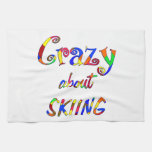 Crazy About Skiing Towels