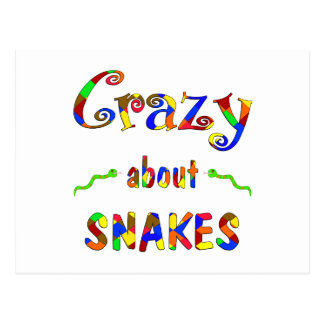 Crazy About Snakes Postcard