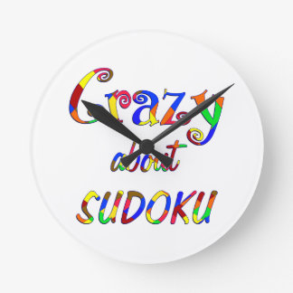 Crazy About Sudoku Round Clock
