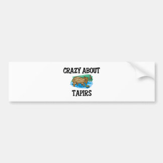 Crazy About Tapirs Bumper Stickers