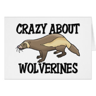 Crazy About Wolverines Greeting Card