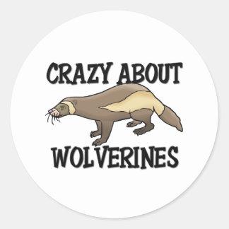 Crazy About Wolverines Classic Round Sticker