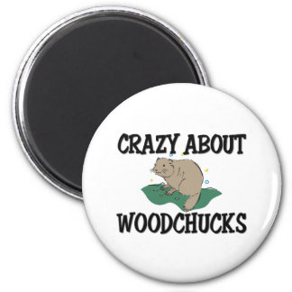 Crazy About Woodchucks 2 Inch Round Magnet