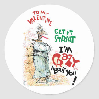 Crazy About You Classic Round Sticker
