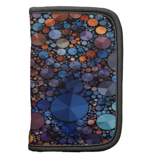 Crazy Abstract Bling Folio Organizers