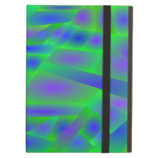 Crazy abstract colors iPad air case