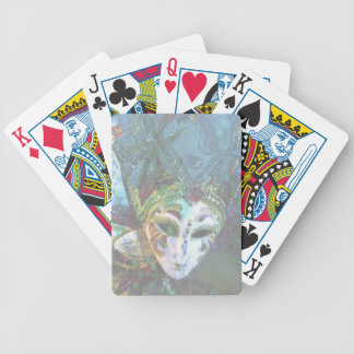 Crazy Abstract Face Of Festival Celebrations Mask Bicycle Playing Cards