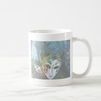 Crazy Abstract Face Of Festival Celebrations Mask Coffee Mug