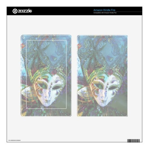 Crazy Abstract Face Of Festival Celebrations Mask Kindle Fire Skins
