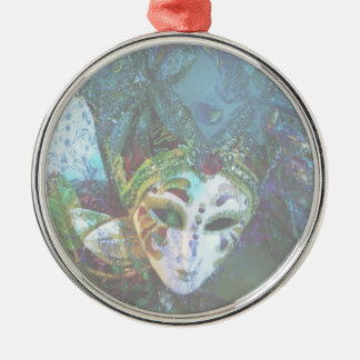 Crazy Abstract Face Of Festival Celebrations Mask Metal Ornament