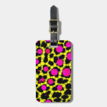 Crazy Abstract Florescent pink/Blk Bling Travel Bag Tags