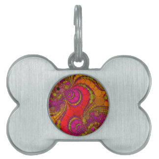 Crazy Abstract Pet Tag
