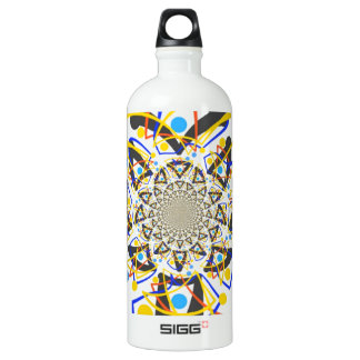 Crazy abstracy design aluminum water bottle