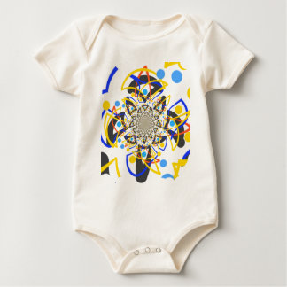 Crazy abstracy design baby bodysuit