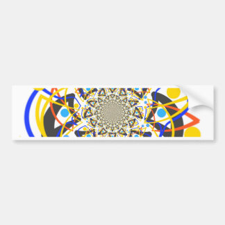 Crazy abstracy design bumper sticker