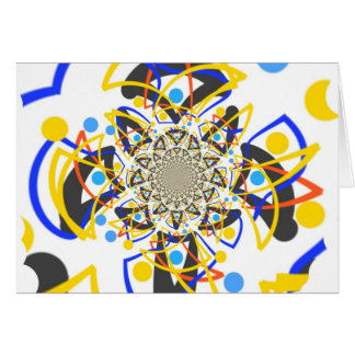 Crazy abstracy design card