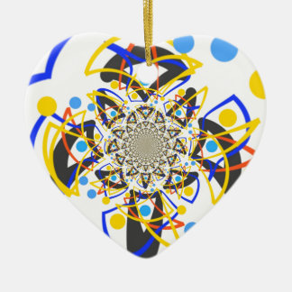 Crazy abstracy design ceramic ornament
