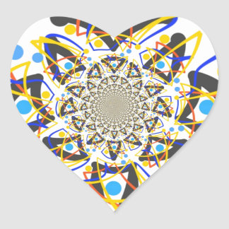 Crazy abstracy design heart sticker