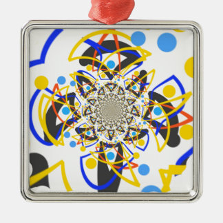 Crazy abstracy design metal ornament