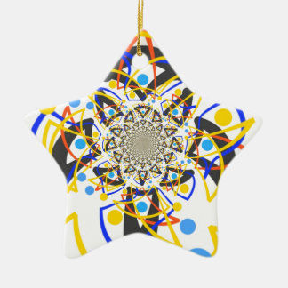 Crazy abstracy design christmas tree ornament