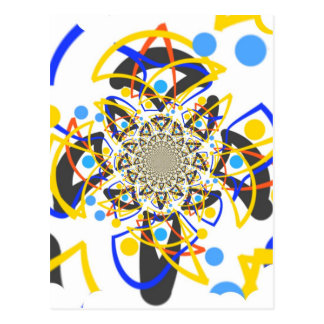 Crazy abstracy design postcard