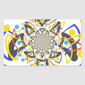 Crazy abstracy design rectangular sticker