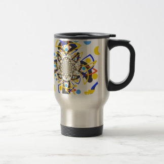 Crazy abstracy design travel mug