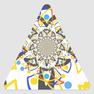 Crazy abstracy design triangle sticker