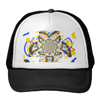 Crazy abstracy design trucker hat