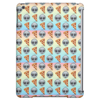 Crazy Aliens & Pizza Emoji Pattern iPad Air Cases
