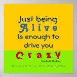Crazy & Alive ~ COLOR CHANGE ~ Poster