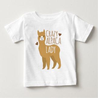 Crazy alpaca lady baby T-Shirt