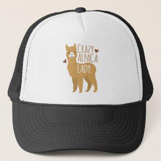Crazy alpaca lady trucker hat
