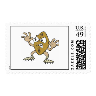 Crazy angry football guy postage stamps