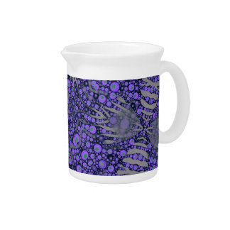 Crazy Animal Print Abstract Beverage Pitcher