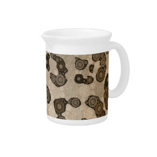 Crazy Animal Print Abstract Drink Pitcher