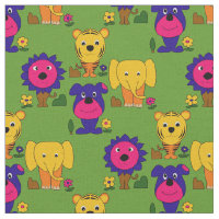 Crazy Animals Novelty Print Fabric