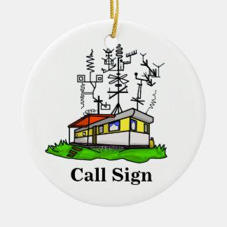 Crazy Antenna Mobile Home Ham Radio Ornament