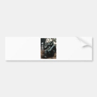 Crazy Ape Gorilla Animals Bumper Sticker