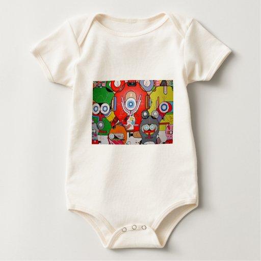 crazy art baby bodysuit