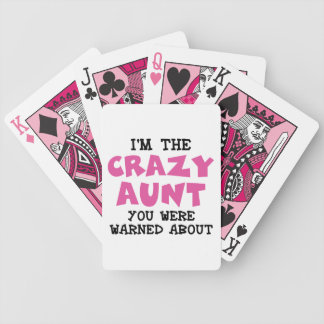 Crazy Aunt Bicycle Playing Cards