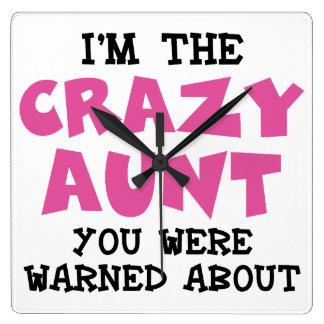 Crazy Aunt Clock