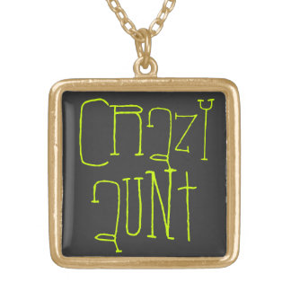 Crazy Aunt Gold Plated Necklace