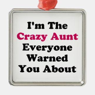 Crazy Aunt Metal Ornament
