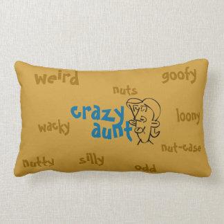 Crazy Aunt Throw Pillows