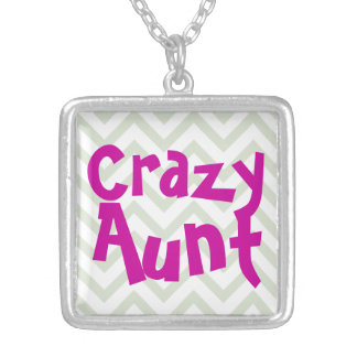 Crazy Aunt Silver Plated Necklace