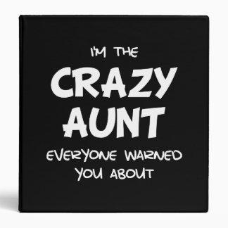 Crazy Aunt Vinyl Binder