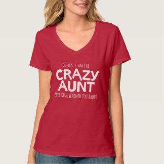 Crazy aunt white typographic slogan t-shirt