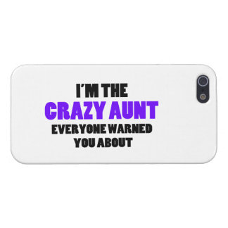 Crazy Aunt You Were Warned About Cover For iPhone SE/5/5s
