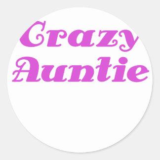 Crazy Auntie Classic Round Sticker
